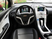 2014 Chevrolet Volt Red interior steering wheel