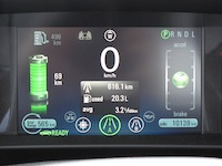 2014 Chevrolet Volt Red gauge display charge