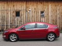 2014 Chevrolet Volt Red side