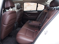 2014 寶馬 BMW 535d xDrive Metallic White rear seats mocha nappa leather