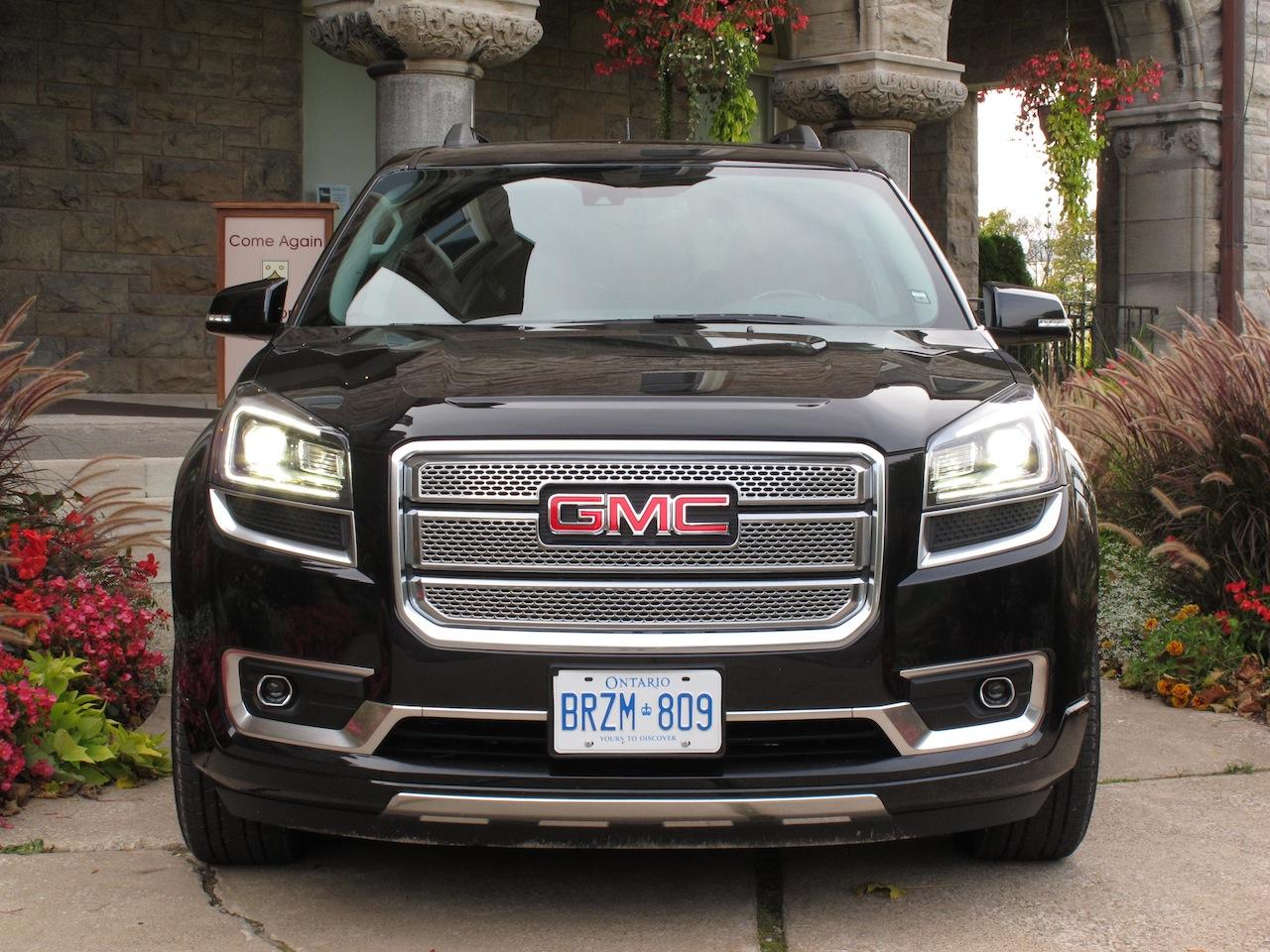 canadian auto review 2014 gmc acadia denali photos. Black Bedroom Furniture Sets. Home Design Ideas