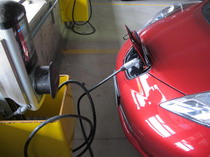 2015 Nissan Leaf Red Charging